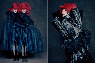 Met Ny 4 maggio - 4 settembre Rei Kawakubo Exhibition. Rei Kawakubo (Japanese, born 1942) for Comme des Garcons (Japanese, founded 1969). Blue Witch, spring/summer 2016; Courtesy of Comme des Garons. Photograph by Paolo Roversi