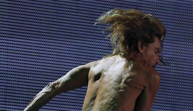 Iggy Pop performs in concert in Mexico City, Sunday, March 5, 2017. (ANSA/AP Photo/Marco Ugarte) [CopyrightNotice: Copyright 2017 The Associated Press. All rights reserved.]