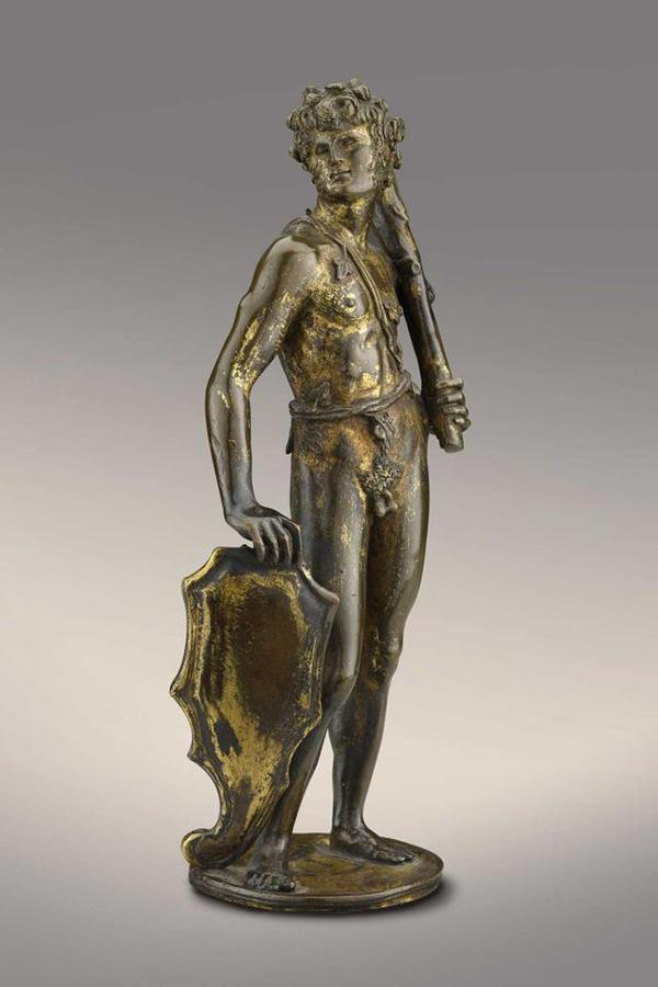 Bertoldo di Giovanni (ca. 1440-1491), Shield Bearer, early 1470s, gilded bronze, The Frick Collection © ANSA