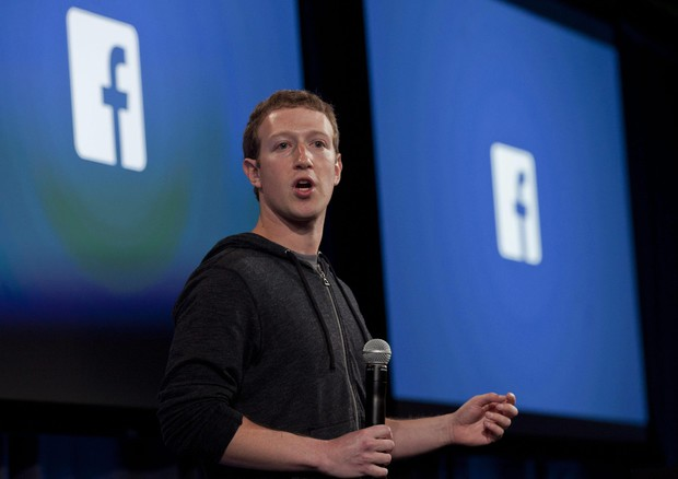 Facebook, il Ceo Mark Zuckerberg (ANSA)