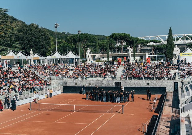 FOTO Tennis & Friends,sport e divertimento in campo per la salute © Ansa