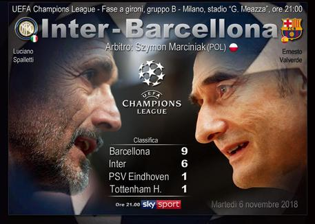 Champions League, Inter-Barcellona © ANSA