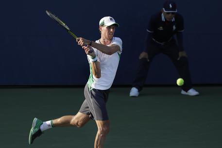 Andreas Seppi in campo agli US Open © AP