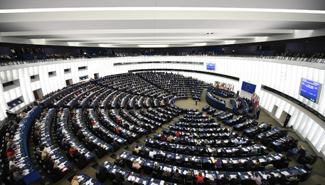 European Parliament in Strasbourg passes copyright reform law(ANSA)