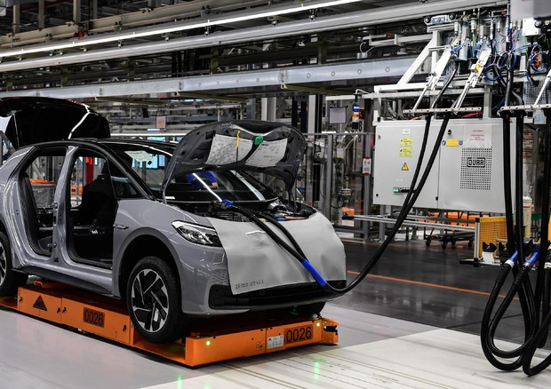 Production launch of Volkswagen ID.3 electric car © EPA