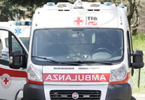 L'ambulanza (ANSA)