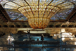 Restoration works in Palau de la Musica (ANSA)